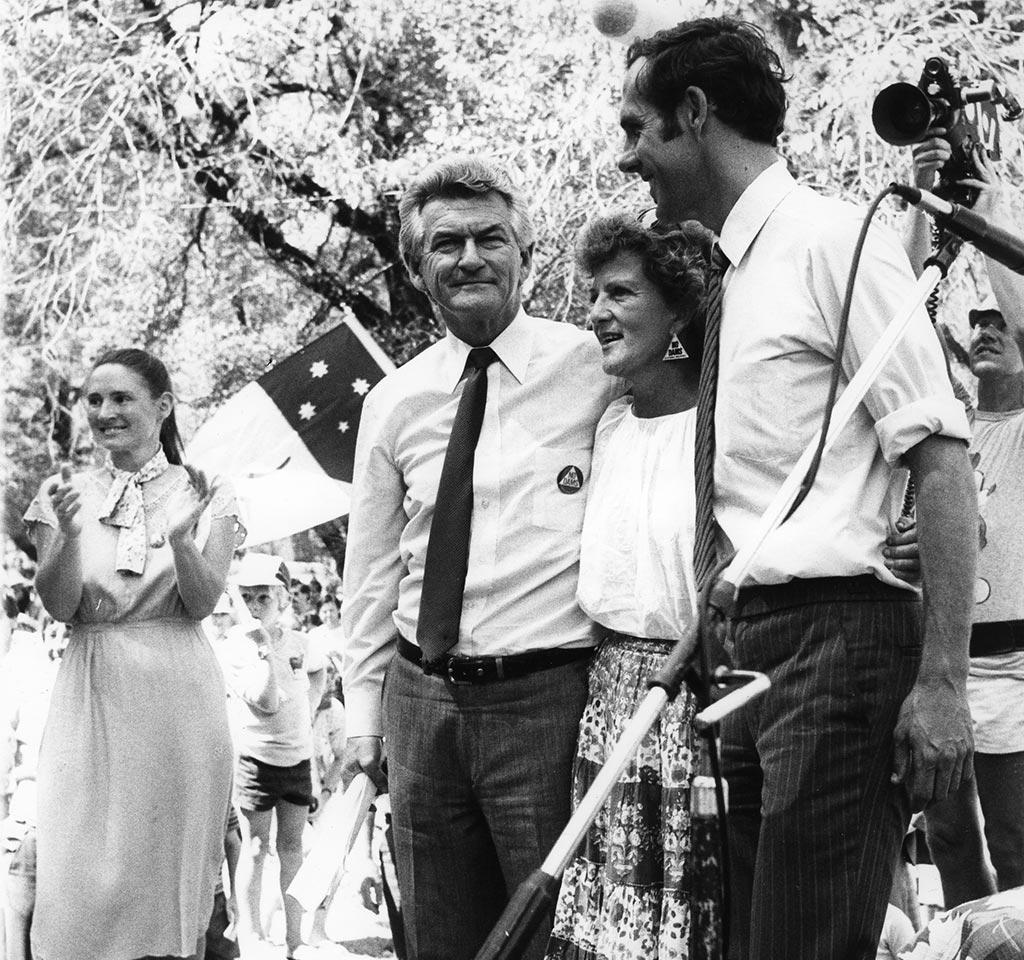 Prime Minister Bob Hawke & Dr Bob Brown