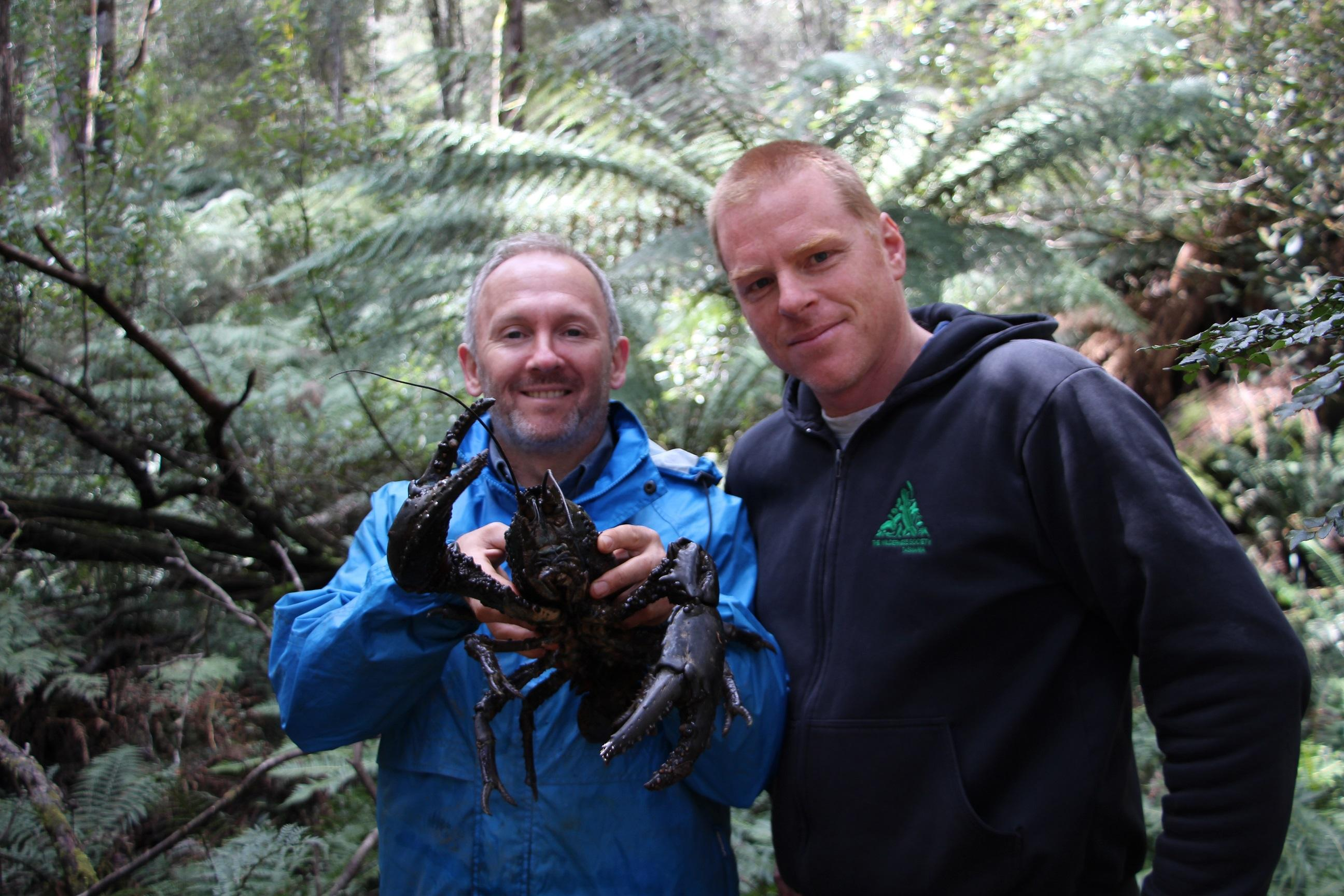 Todd Walsh, Vica Bayley and lobster